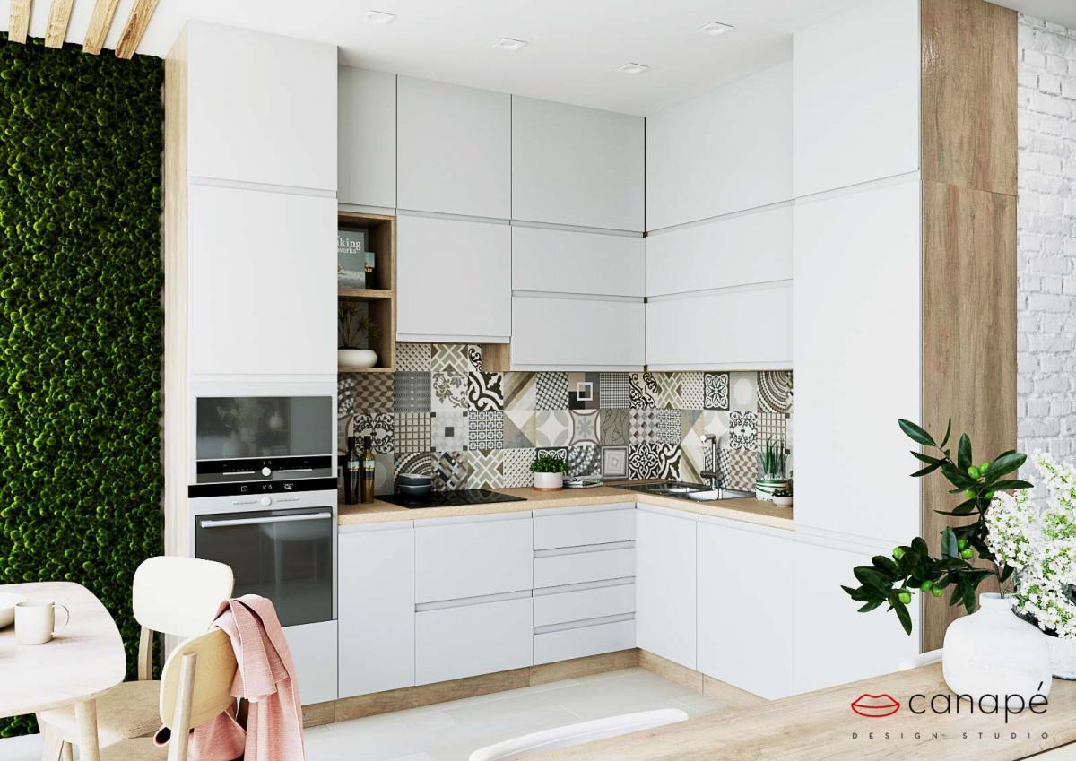 Дизайн проект кухни в стиле сканди